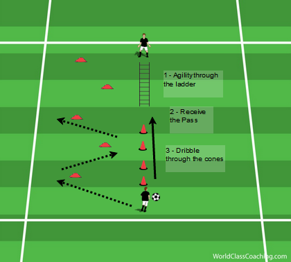 Agility, Receiving and Dribbling Circuit